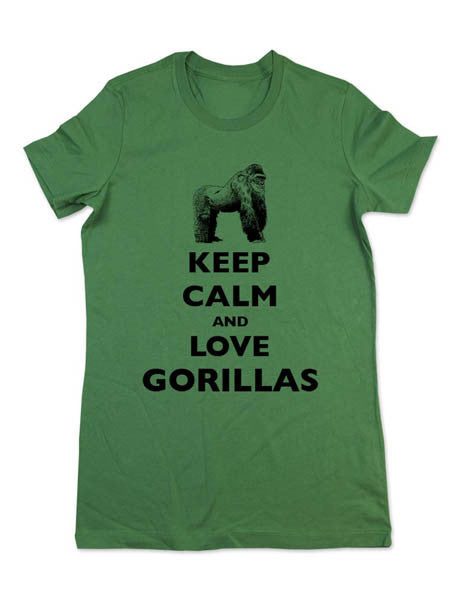 Keep Calm And Love Gorillas - Women & Men Shirt