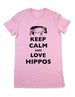Keep Calm And Love Hippos - Women & Men Shirt