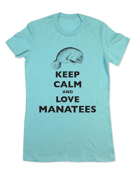 Keep Calm And Love Manatees - Women & Men Shirt