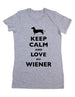 Keep Calm And Love My Wiener Dachshund - Women & Men Shirt