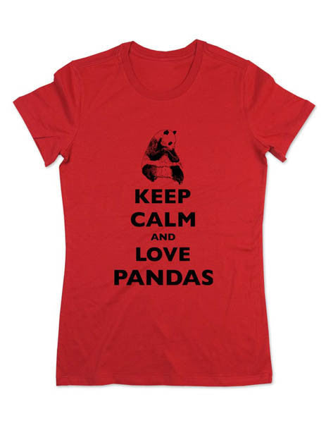 Keep Calm and Love Pandas - Women & Men Shirt