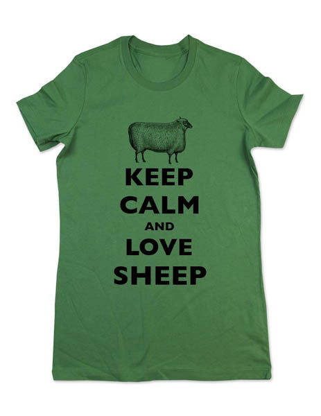 Keep Calm And Love Sheep - Women & Men Shirt