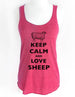 Keep Calm and Love Sheep - Soft Tri-Blend Racerback Tank