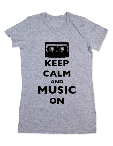 Keep Calm And Music On - Women & Men Shirt