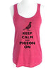 Keep Calm and Pigeon On - Soft Tri-Blend Racerback Tank