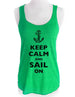 Keep Calm and Sail On - Soft Tri-Blend Racerback Tank