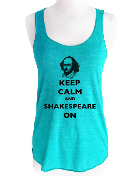 Keep Calm and Shakespeare On - Soft Tri-Blend Racerback Tank