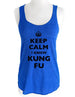 Keep Calm I Know Kung Fu - Soft Tri-Blend Racerback Tank