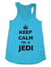Keep Calm I'm A Jedi - Soft Eco-Heather Racerback Tank for Women