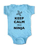 Keep Calm I'm A Ninja - design3 - Baby One-Piece Bodysuit, Infant, Toddler, Youth Shirt