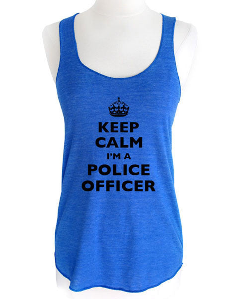 Keep Calm I'm A Police Officer - Soft Tri-Blend Racerback Tank