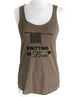 Knitting is Love - Soft Tri-Blend Racerback Tank