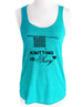 Knitting is Sexy - Soft Tri-Blend Racerback Tank
