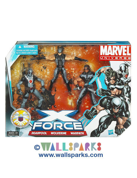 Marvel Universe Super Hero Team Packs X Force Deadpool, Wolverine, Warpath