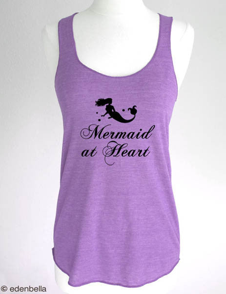 Mermaid at Heart - Soft Eco-Heather Racerback Tank for Women