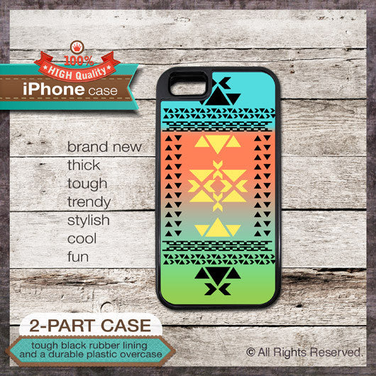 Modern Graphic No. 22 Tribal Pattern - Choose from iPhone 4/4S, 5/5S, 5C, Samsung Galaxy S3 or S4 Case