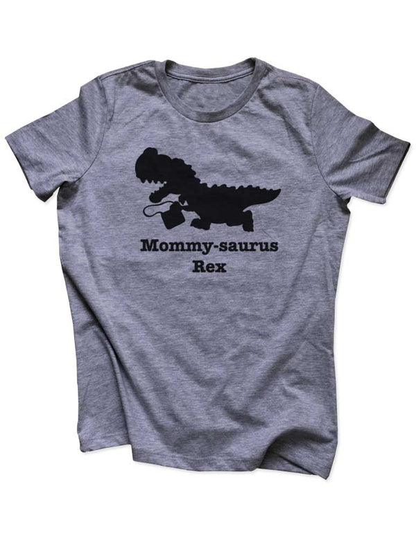 Mommy-Saurus Rex - Dinosaur Birthday Party Baby Birth surprise announcement - Women & Unisex/Men Heather & Triblend Shirt