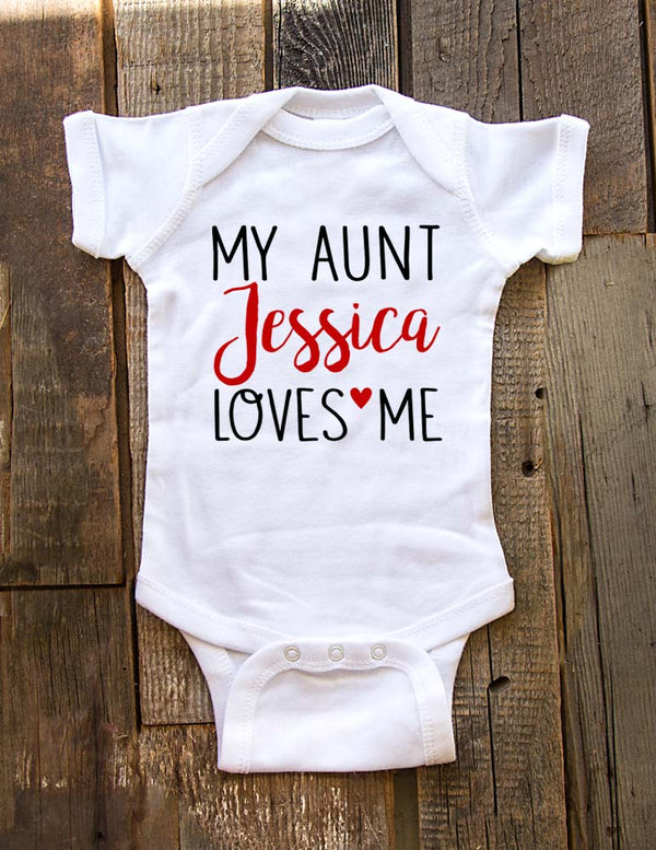 My Aunt Uncle Grandma Grandpa Sister Brother Cousin Loves Me custom design 2 - Baby bodysuit, Infant, Toddler, Youth Shirt