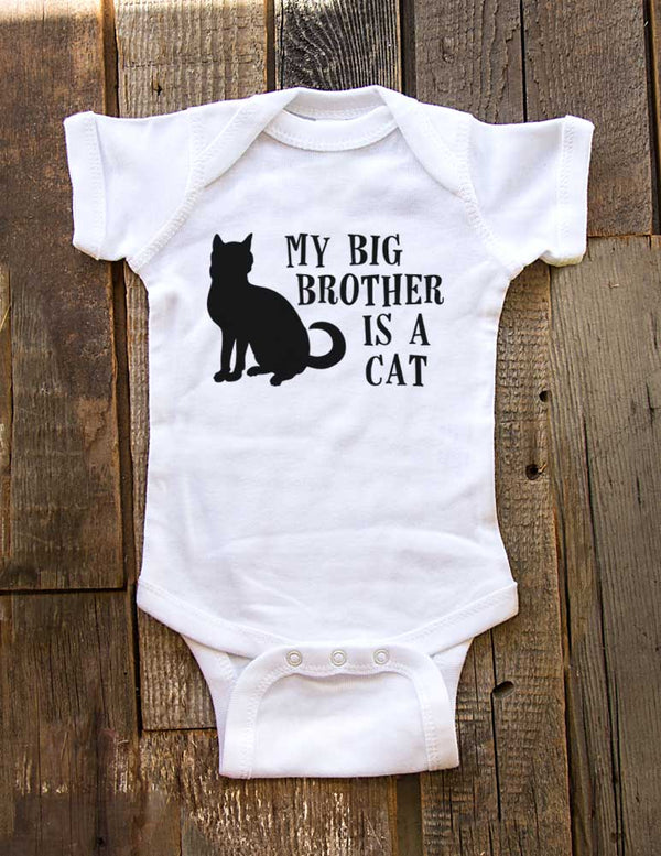 My big brother is a cat - Baby One-Piece Bodysuit, Infant, Toddler, Youth Shirt