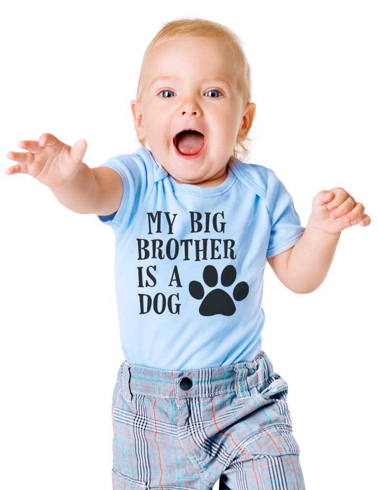 My big brother is a dog - Baby One-Piece Bodysuit, Infant, Toddler, Youth Shirt