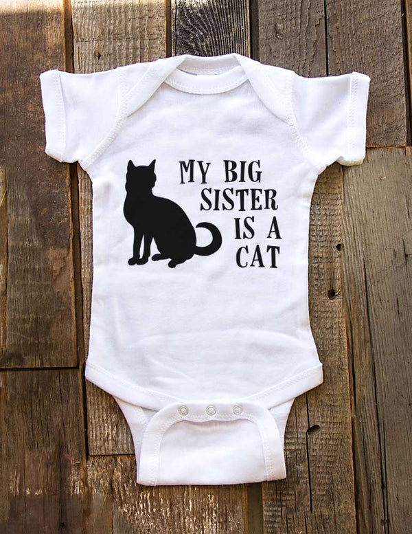 My big sister is a cat - Baby One-Piece Bodysuit, Infant, Toddler, Youth Shirt