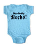 My Daddy Rocks! - Baby One-Piece Bodysuit, Infant, Toddler, Youth Shirt