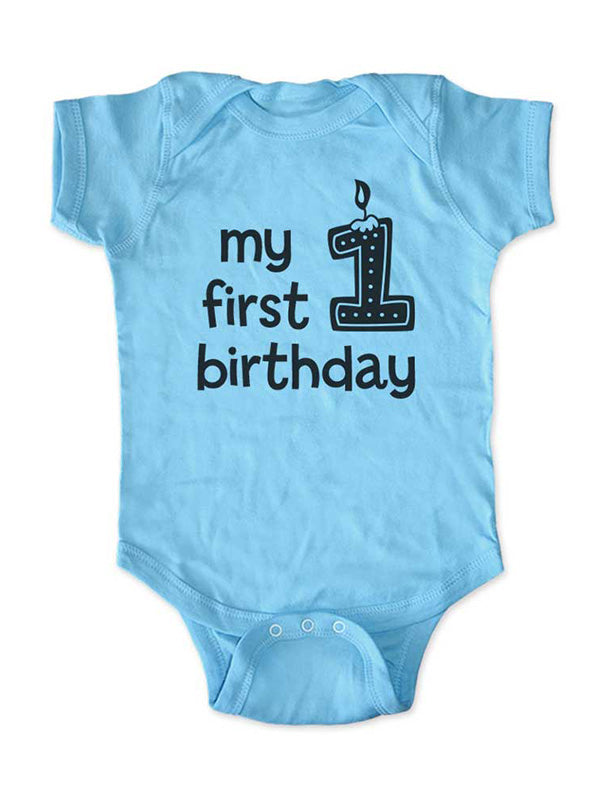 My first birthday - boy design - Baby Birth Pregnancy Announcement Infant, Toddler, Youth Shirt