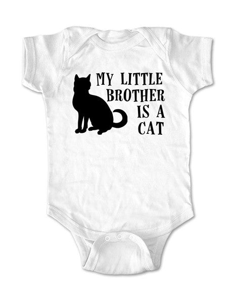 My little brother is a cat - Baby One-Piece Bodysuit, Infant, Toddler, Youth Shirt