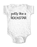 potty like a ROCKSTAR - Baby One-Piece Bodysuit, Infant, Toddler Shirt