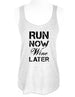 Run Now Wine Later - Soft Tri-Blend Racerback Tank