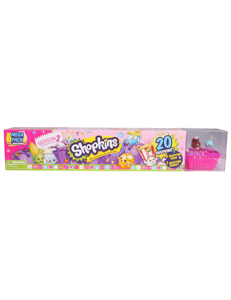 Shopkins Season 2 MEGA 20 Pack Box Tube NEW FACTORY SEALED Styles May Vary