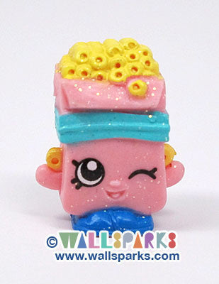 Shopkins Season 1 Pink Breaky Crunch #1-020 ULTRA RARE Glitter Finish