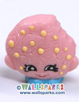 Shopkins Season 1 Pink Kooky Cookie #039 ULTRA RARE Glitter Finish