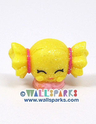 Shopkins Season 1 Yellow Mandy Candy #1-062 ULTRA RARE Glitter Finish