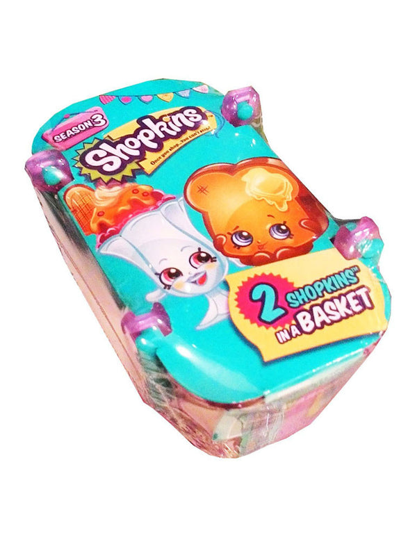 Shopkins Season 3 Sealed Blind Shopping Basket - Includes 2 Mystery Shopkins