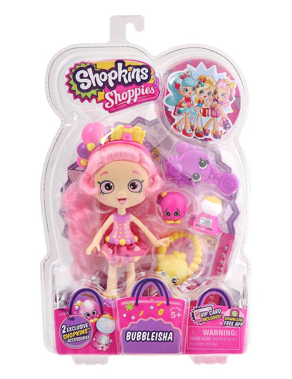 Shopkins Shoppies Doll - Bubbleisha - Brand New!! Exclusive Shopkins Included!