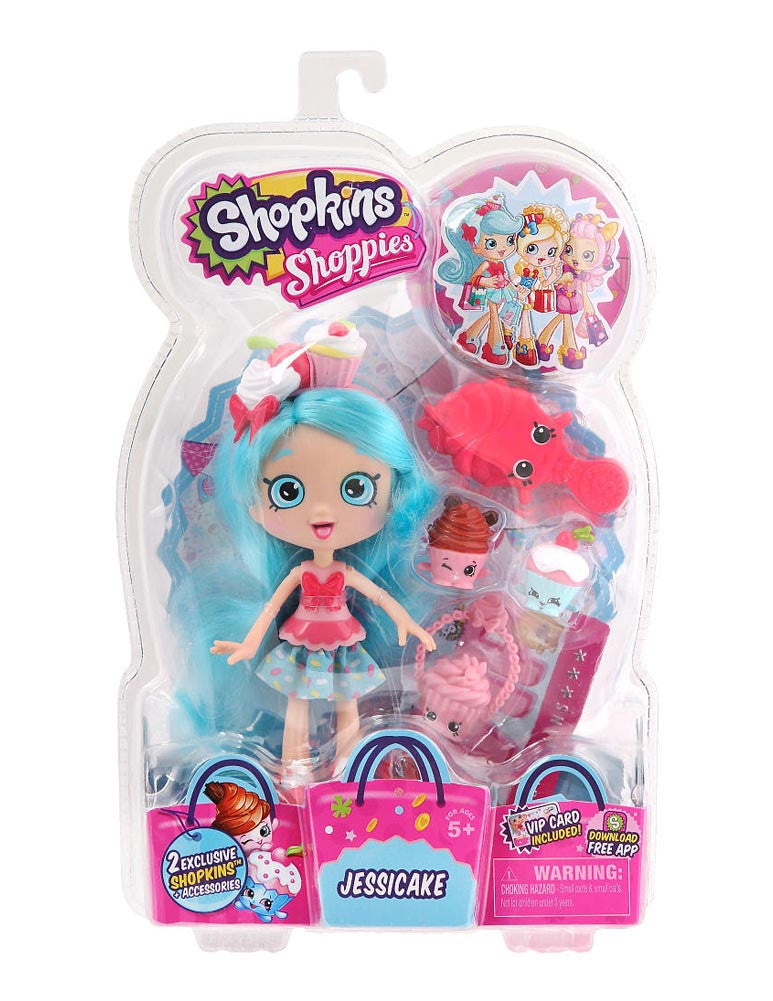 Shopkins Shoppies Doll - Jessicake - Brand New!! Exclusive Shopkins Included!