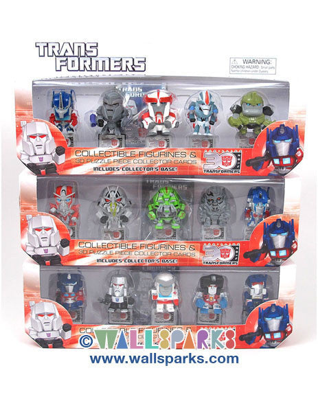 Transformers 30th Anniversary Mini-Figure Wave 1 5-Pack NEW COMPLETE SET (15 mini-figures)
