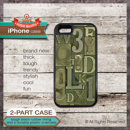 Typefaces Font Design - Choose from iPhone 4/4S, 5/5S, 5C, Samsung Galaxy S3 or S4 Case