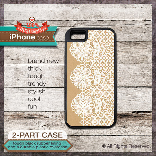 Vintage Lace Design 01 - Choose from iPhone 4/4S, 5/5S, 5C, Samsung Galaxy S3 or S4 Case