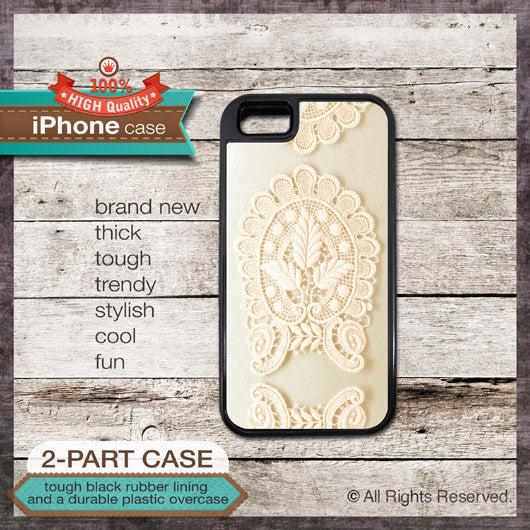 Vintage Lace Design 03 - Choose from iPhone 4/4S, 5/5S, 5C, Samsung Galaxy S3 or S4 Case
