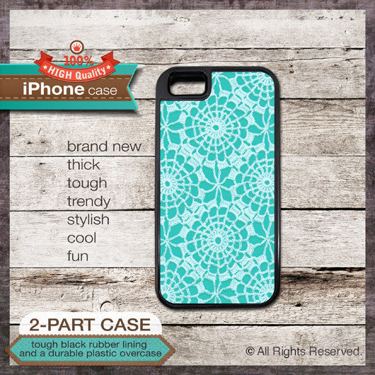 Vintage Lace Design 09 - Choose from iPhone 4/4S, 5/5S, 5C, Samsung Galaxy S3 or S4 Case