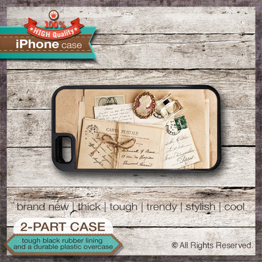 Vintage Postcard Design 1 - Choose from iPhone 4/4S, 5/5S, 5C, Samsung Galaxy S3 or S4 Case