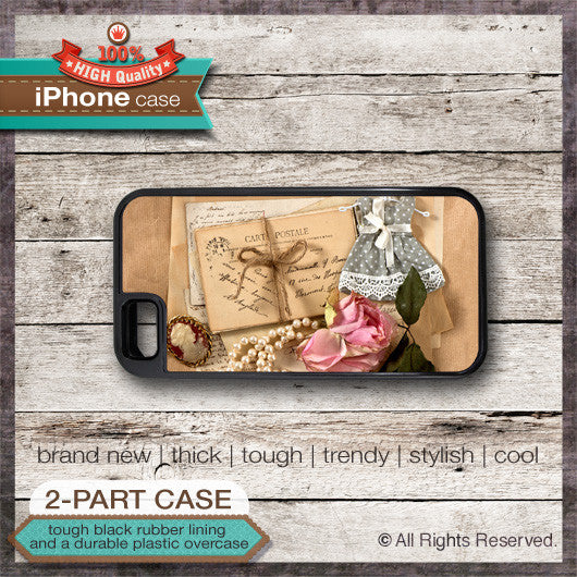 Vintage Postcard Design 2 - Choose from iPhone 4/4S, 5/5S, 5C, Samsung Galaxy S3 or S4 Case