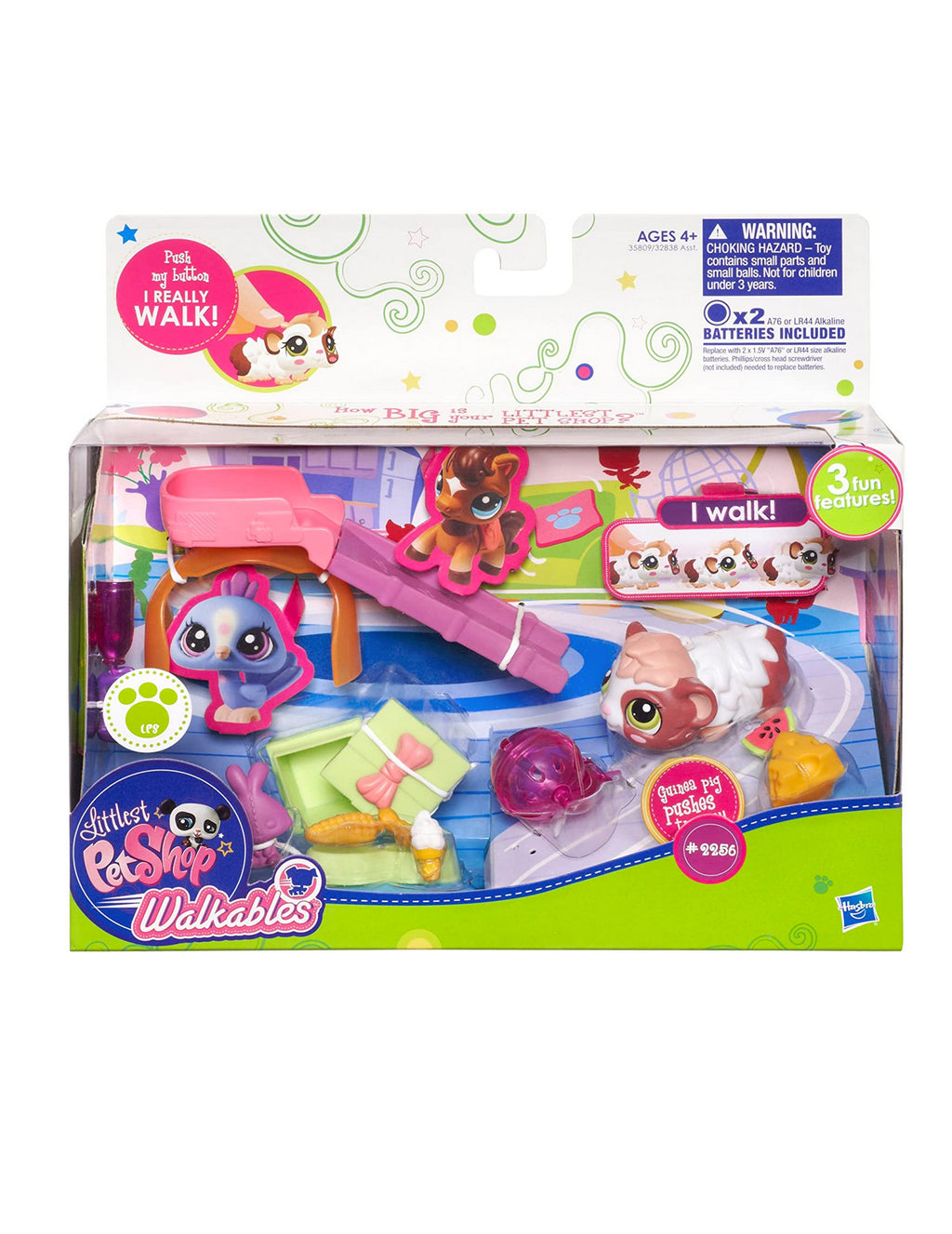 Littlest Pet Shop, Walkables Themed Pack, Guinea Pig #2256