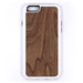 Walnut Wood iPhone Case Carved Engraved design on Real Natural Wood - For iPhone X/XS, 7/8, 6/6s, 6/6s Plus, SE, 5/5s, 5C, 4/4s