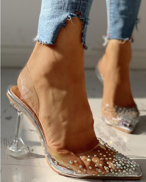 Luxury Transparent Pumps 2021 High Heels