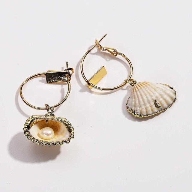 Seashell Conch Earrings