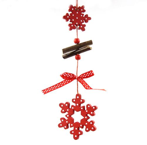 Christmas Snowflakes Wood Decor
