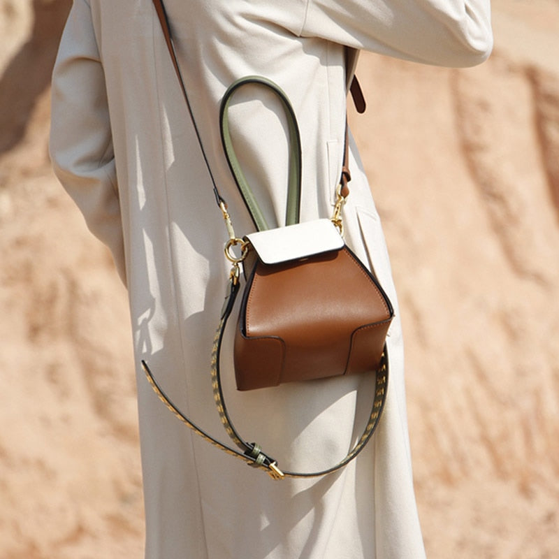 New Stylish Brown Leather Bag